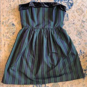 Vineyard Vines Blackwatch Plaid Strapless Dress 12